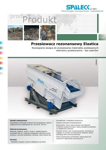 Spaleck przesiewacz Elastica - MT Recykling