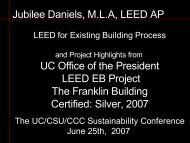 LEED for Existing Building Presentation (pdf) - Sustainability at UC