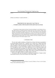 Properties of organic matter in chosen soils fertilized with sewage ...