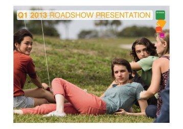 Q1 2013 ROADSHOW PRESENTATION - Mobistar