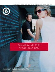 Geschäftsbericht 1999 Annual Report 1999 - Design Hotels