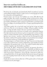 Læs interview med Jan Guillou om MEN IKKE HVIS DET ... - Modtryk