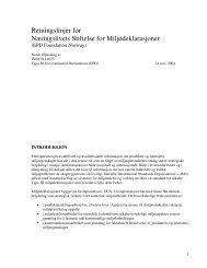 Stiftelsens vedtekter - NHO