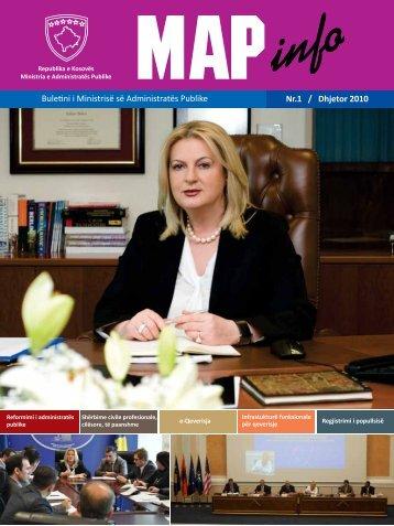 MAPinfo - Ministria e Administratës Publike - Fillimi