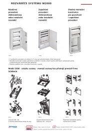rozváděče systému m2000 / montážní konstrukce - Schrack