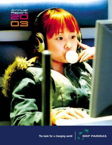 Annual Report 2003 - BNP Paribas