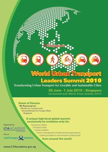 World Urban Transport Leaders Summit - LTA Academy