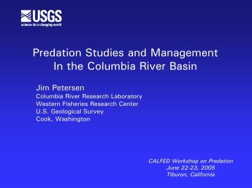 Predation Studies and Management In the Columbia River Basin