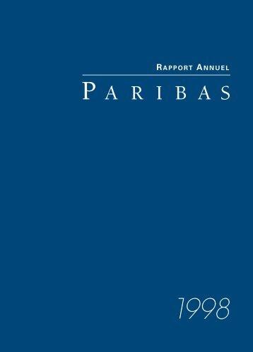 1998-Rapport Annuel de Paribas - BNP Paribas