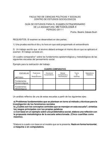 Metodología II - Centro de Estudios Sociológicos