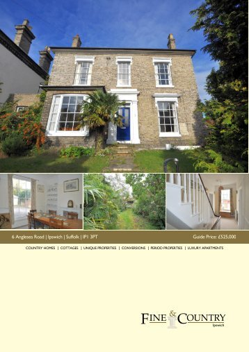 6 Anglesea Road | Ipswich | Suffolk | IP1 3PT Guide ... - Fine & Country