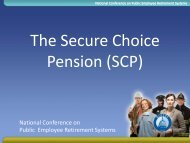 Secure Choice Pension (SCP)