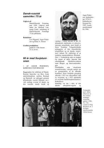 Dansk-russisk samvirke i 75 år - Dansk-Russisk Forening