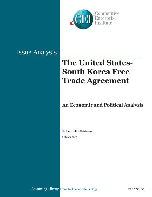 The United States South Korea Free Trade Agreement