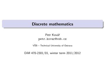 Discrete mathematics - HomeL