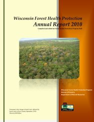 Forest health highlights - Wisconsin Department of Natural ...