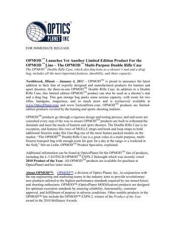 OPMOD Rifle Case Release - OpticsPlanet.com