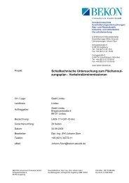 Schalltechnische Untersuchung zum Flächennut- zungsplan - Lindau