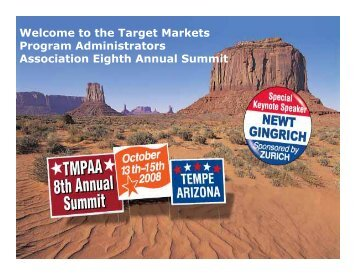 Welcome to the Target Markets Program Administrators Association ...