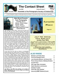 July 2008 Newsletter-mail - Photographic Society of Chattanooga