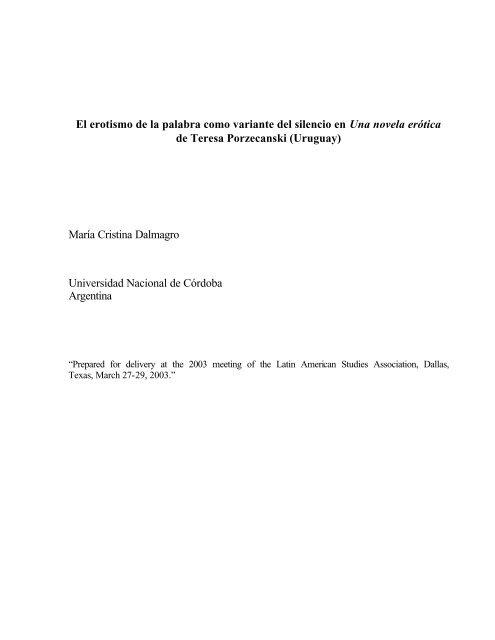 Dalmagro Maria Cristina Latin American Studies Association