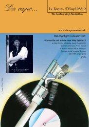 Le Forum d´Vinyl Ausgabe August 2012 - Da capo