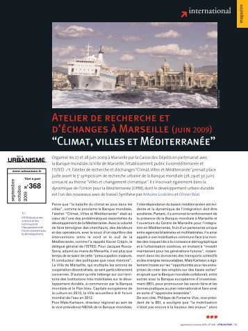 "Article de la ""Revue Urbanisme"" - CMI"