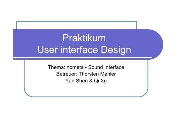 16 1 horizontale schleife for Praktikum design