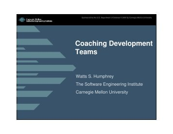 Coaching Development Teams - MISRC