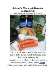 Johann's Wurst mit Karotten - The Geriatric Gourmet
