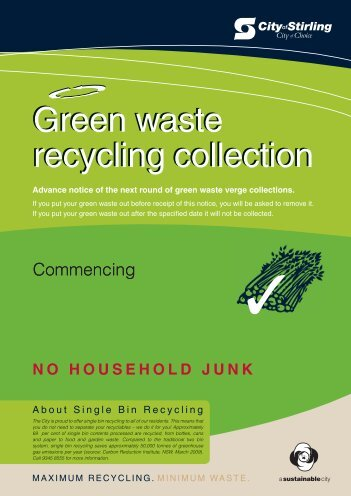 Green waste recycling collection Green waste recycling collection