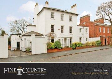 George Road Edgbaston | Birmingham | B15 1PJ - Fine & Country
