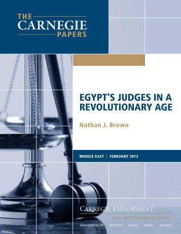 EgYpT'S JUDgES In A REvoLUTIonARY AgE - Carnegie ...