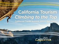 California Travel Summit 2013 - the California Tourism Industry ...