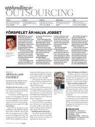 7/2009: Outsourcing - CIO Sweden - IDG.se