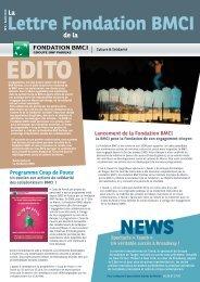 Lettre Fondation BMCI - BNP Paribas