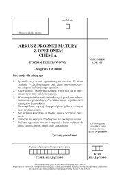 arkusz próbnej matury z operonem chemia - poziom ... - Gazeta.pl