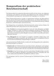 Kompendium der praktischen Betriebswirtschaft
