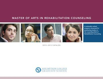 master of arts in rehabilitation counseling - graduate studies at ...