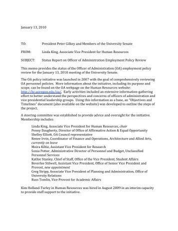 employment status report