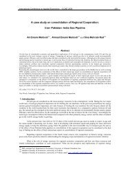 A case study on consolidation of Regional Cooperation: Iran ...