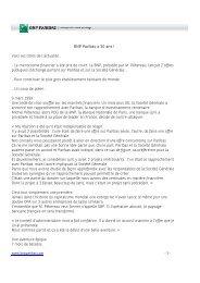 Le microcosme financier a été pris de court. La BNP ... - BNP Paribas