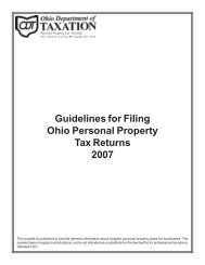 Guidelines for Filing Ohio Personal Property Tax Returns 2007