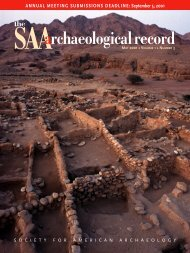 *may 3rd proof - Society for American Archaeology