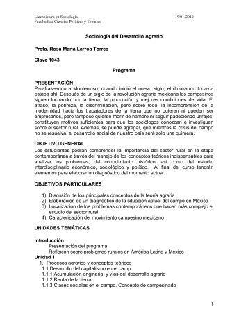 Sociología del Desarrollo Agrario - Centro de Estudios Sociológicos ...