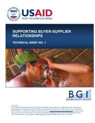 Supporting Buyer-Supplier Relationships - Economic Growth - USAid