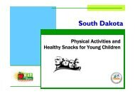 Physical Activity and Healthy Snacks for Young Children