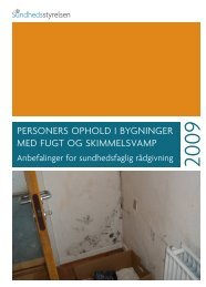 'Personers ophold i bygninger med fugt og skimmelsvamp' (2009)