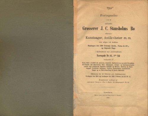 Grosserer J. C. Stausholms Bo