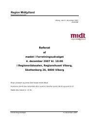 Referat af mødet - Region Midtjylland